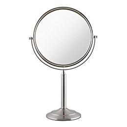 Zadro® Oversized 1X/3X Vanity Mirror in Satin Nickel