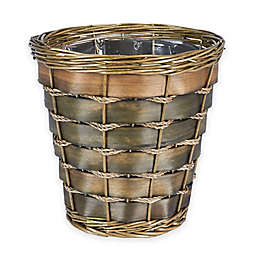 Household Essentials Small Haven Willow And Poplar Wicker Wastebasket
