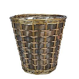 Household Essentials® Medium Haven Willow and Poplar Wicker Wastebasket