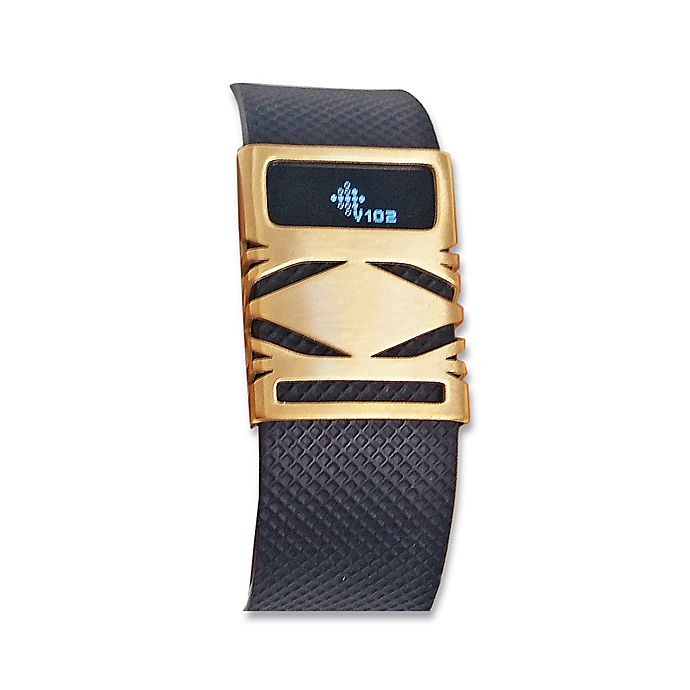 Alternate image 1 for funktional wearables Fitbit® Charge & Charge HR GEO Cover in Brushed Gold