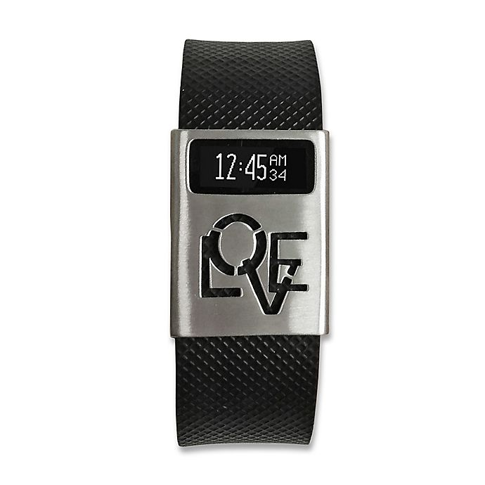 Alternate image 1 for funktional wearables Fitbit® Charge & Charge HR LOVE RULES Cover in Brushed Silver