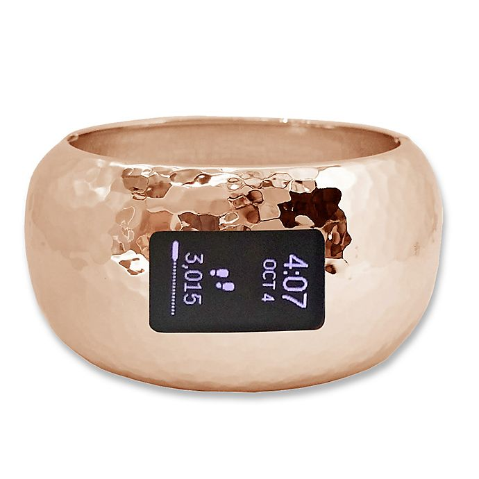 Alternate image 1 for funktional wearables Briana Insight 7-Inch Bracelet for Fitbit® Charge 2 in Rose Gold