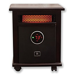 Heat Storm Logan Deluxe Infrared Quartz Portable Heater in Dark Walnut