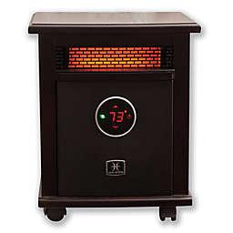 Heat Storm Logan Deluxe Infrared Quartz Portable Heater in Dark Walnut