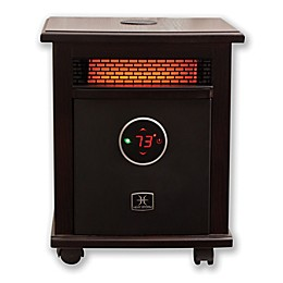 Heat Storm Logan Deluxe Infrared Quartz Portable Heater with Bluetooth® Speaker in Dark Walnut