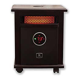 Heat Storm Logan Deluxe Infrared Quartz Portable Heater with Bluetooth® Speaker in Dark Walnut