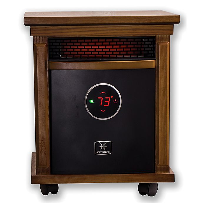 Alternate image 1 for Heat Storm Smithfield Deluxe Infrared Quartz Portable Heater in Oak