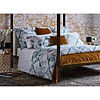 Frette At Home Blue Marble Queen Duvet Cover in Turquoise