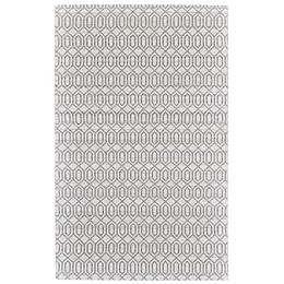 Feizy Burton Concentric Diamond Area Rug in Silver/Grey