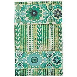 Feizy Ashlyn Floral Stripe Rug in Emerald