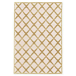 Feizy Soho-Mah Garden Trellis Rug in Cream/Gold