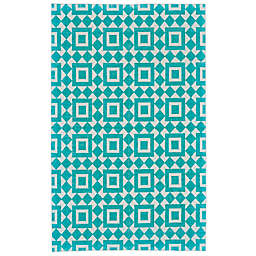 Feizy Harrison Granada Diamond Rug in Turquoise