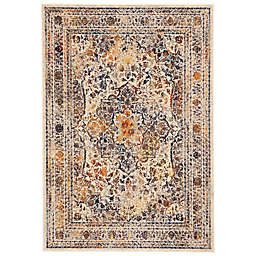 Feizy Zenith Center Medallion Area Rug in White/Multi