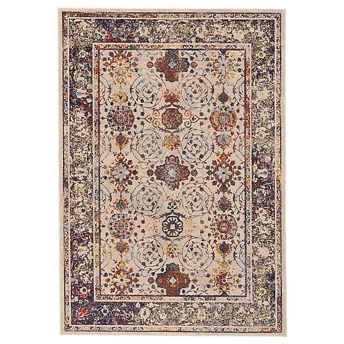 Alternate image 1 for Feizy Zenith Tribal Medallion 8-Foot x 11-Foot Area Rug in White/Blue