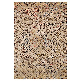 Feizy Zenith Tribal Area Rug in White/Silver