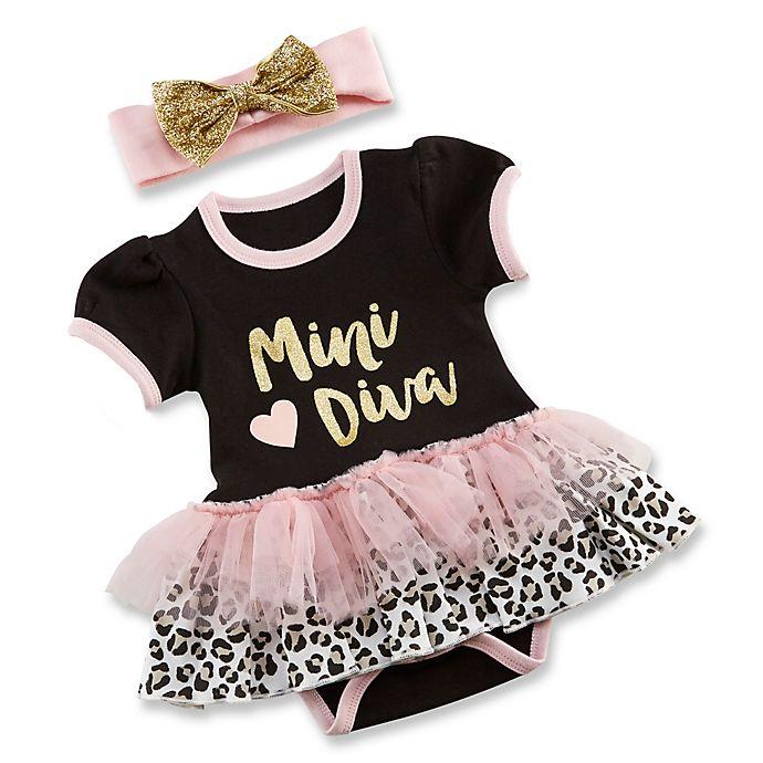 8f8825806 Baby Aspen® Size 0-6M My First Fashionista 2-Piece Tutu Bodysuit and ...