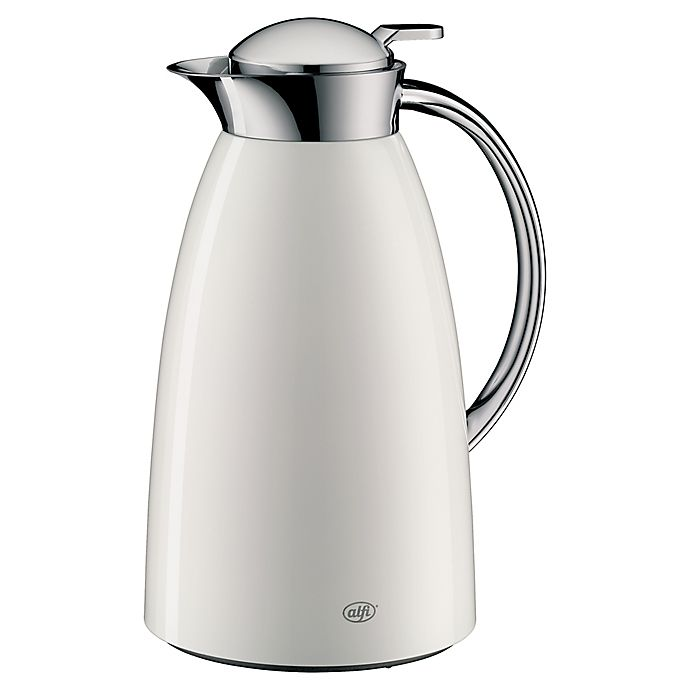 Alternate image 1 for Alfi™ Gusto 1-Liter Vacuum-Insulated Carafe in White