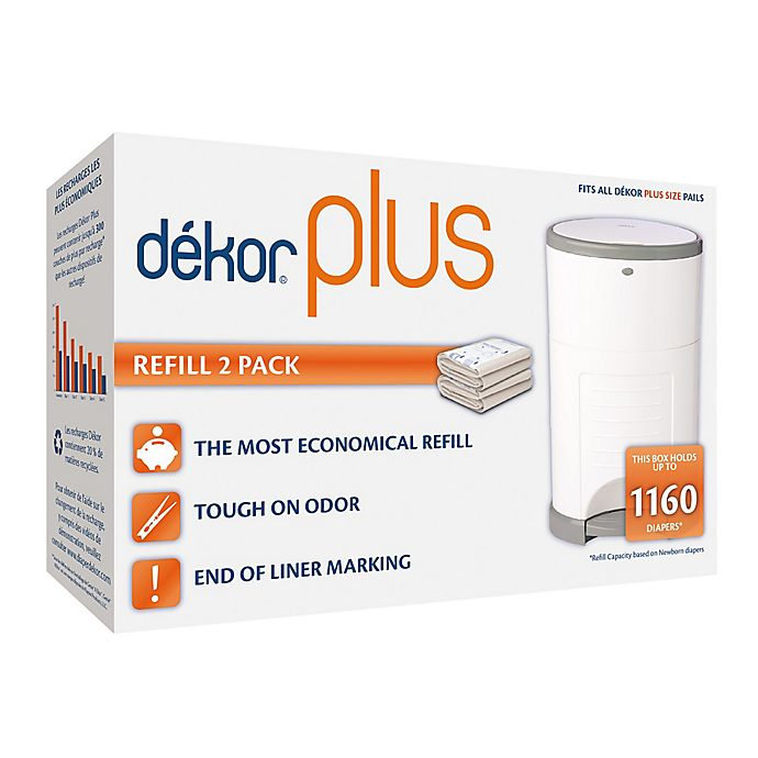 Alternate image 1 for Dékor® Plus Hands-Free Diaper Pail Refills (2-Pack)