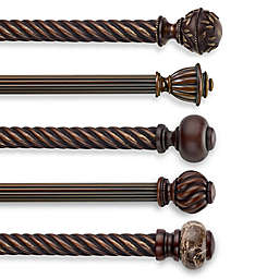 Cambria® Estate Wood Curtain Rod Hardware Collection in Chocolate