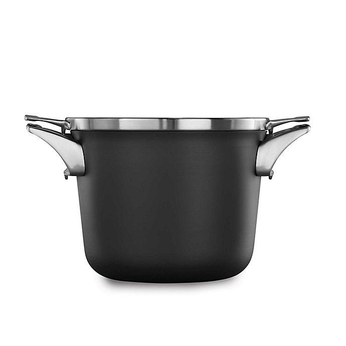 Alternate image 1 for Calphalon® Premier™ Space Saving Hard Anodized Nonstick 4.5 qt. Covered Soup Pot