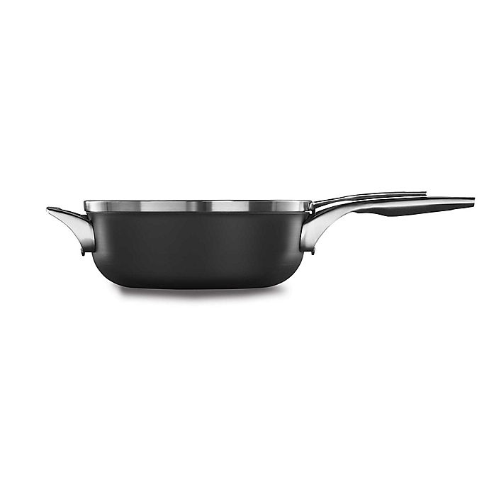 Alternate image 1 for Calphalon® Premier™ Space Saving Hard Anodized Nonstick Covered Chef's Pan