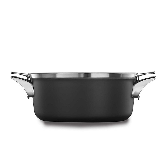 Alternate image 1 for Calphalon® Premier™ Space Saving Hard Anodized Nonstick Covered Dutch Oven