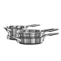 Calphalon® Premier™ Space Saving Stainless Steel 6-Piece Cookware Set