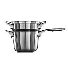 Calphalon® Premier™ Space Saving Stainless Steel 4.5 qt. Saucepan with Double Boiler