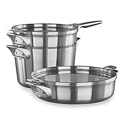 Calphalon® Premier™ Space Saving 5-Piece Stainless Steel Supper Club Cookware Set