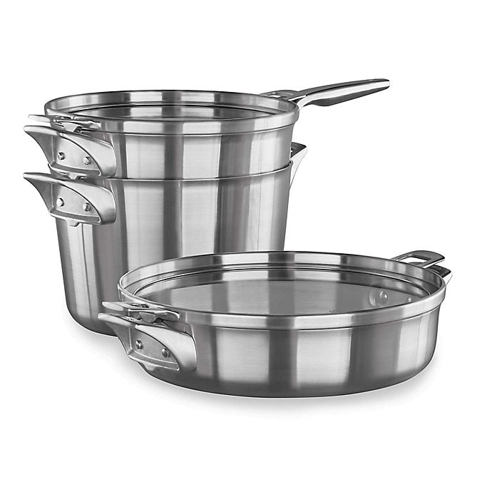 Calphalon 174 Premier Space Saving 5 Piece Stainless Steel