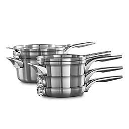 Calphalon® Premier™ Space Saving Stainless Steel 8-Piece Cookware Set
