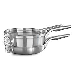 Calphalon® Premier™ Space Saving 3-Piece Stainless Steel 8-Inch Cookware Set