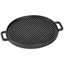 Basic Essentials® Cast Iron 12-Inch Reversible Grill/Griddle with 2 Side Handles