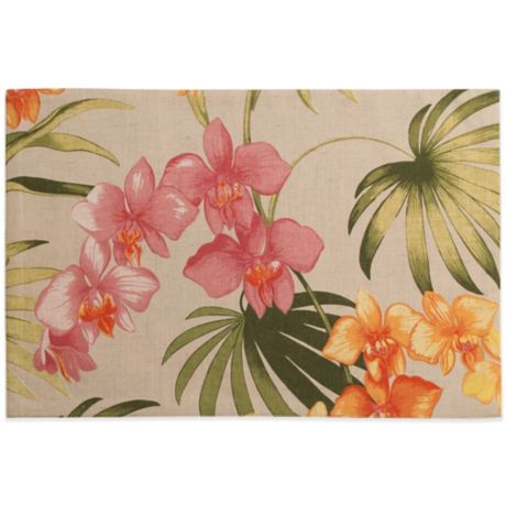 Tommy Bahama 174 Home African Orchid Placemat Bed Bath Amp Beyond
