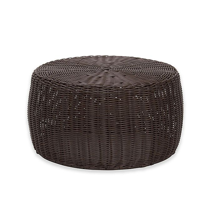 Outstanding Household Essentials 16 Inch Round All Weather Low Wicker Caraccident5 Cool Chair Designs And Ideas Caraccident5Info