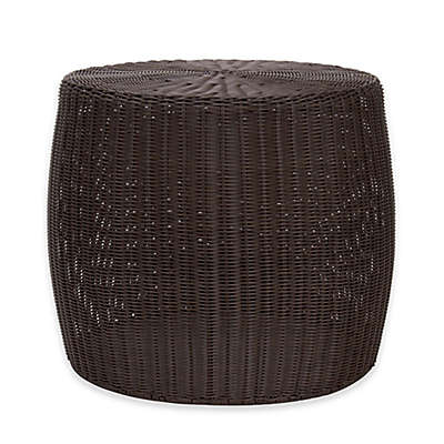 Household Essentials® Round All-Weather Wicker Table in Brown