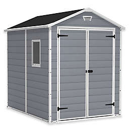 Keter Manor 6-Foot x 8-Foot Resin Storage Shed in Grey