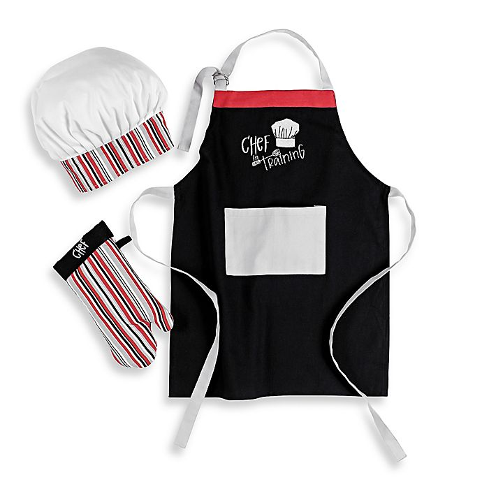 Alternate image 1 for Mukitchen Kids Chef in Training 3-Piece Apron Set