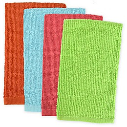 Design Imports 4-Pack Bar Mop Kitchen Towels in Bright Multi
