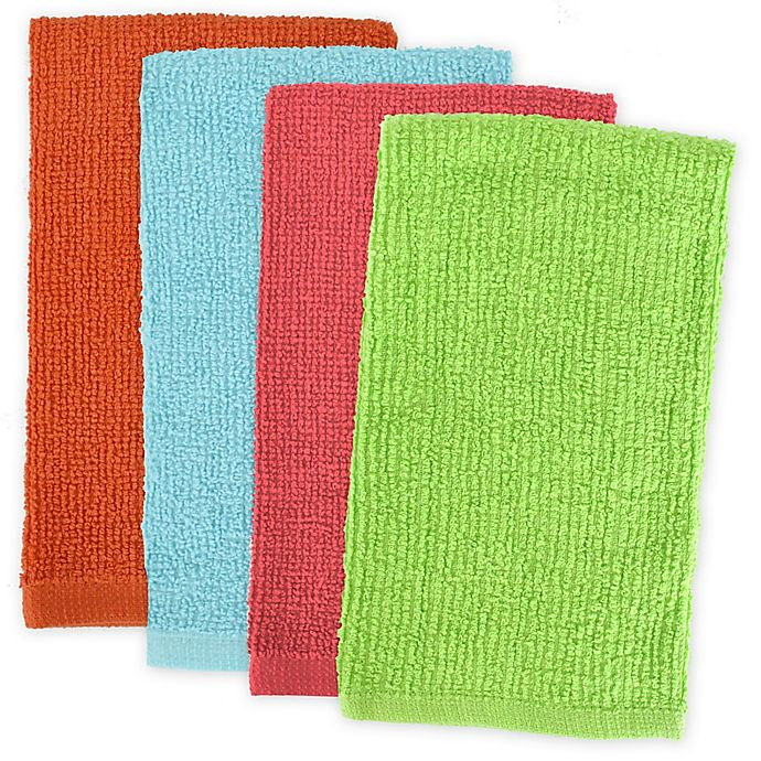 Alternate image 1 for Design Imports 4-Pack Bar Mop Kitchen Towels in Bright Multi