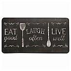 David Burke Bloomfield  Eat Laugh Live  Memory Foam 20-Inch x 39-Inch Kitchen Mat