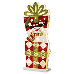 National Tree Company Snowman Gift Box