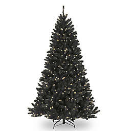 National Tree Company 7-1/2-Foot Pre-Lit North Valley Black Spruce Artificial Christmas Tree