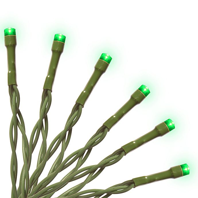 Alternate image 1 for National Tree Company 15-Bulb LED String Light in Green