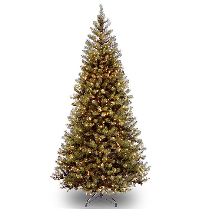 Alternate image 1 for National Tree Company Pre-Lit Clear Aspen Spruce Artificial Christmas Tree