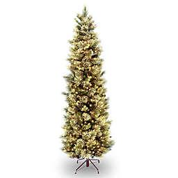 National Tree Company Pre-Lit Carolina Pine Slim Artificial Christmas Tree