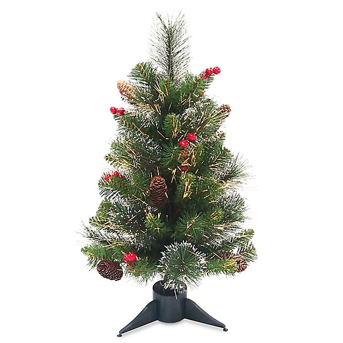 Fiber Optic Light Christmas Tree: National Tree Company® 2-Foot Pre-Lit Fiber Optic
