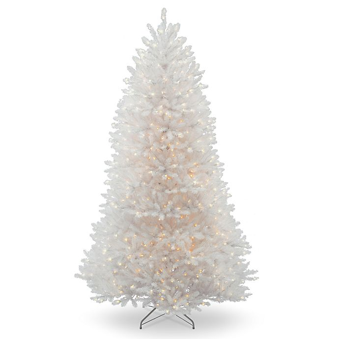 Alternate image 1 for National Tree Company Dunhill White Fir Pre-Lit Christmas Tree