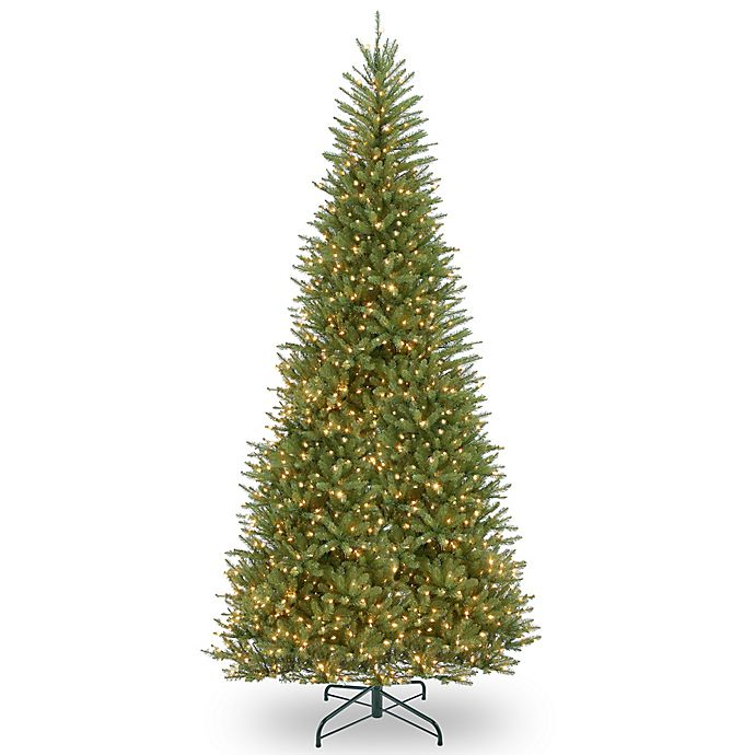 Alternate image 1 for National Tree Company Slim Dunhill Fir Pre-Lit Christmas Tree with Clear Lights