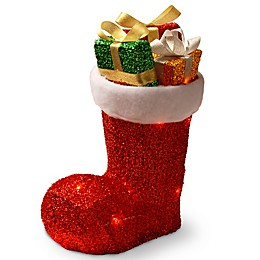 National Tree Company Pre-Lit Gift-Filled Christmas Boot